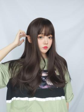 BROWN WAVY SYNTHETIC WEFTED CAP WIG LG103