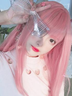 PINK MEDIUM LENGTH STRAIGHT SYNTHETIC WEFTED CAP WIG LG125
