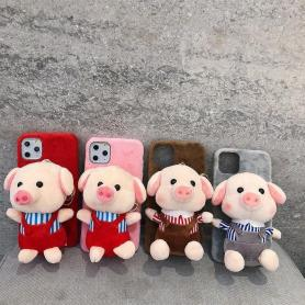 FURRY PIGGY TOY SHOCKPROOF PROTECTIVE DESIGNER IPHONE CASE PC033
