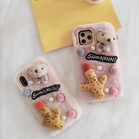FURRY BEAR SHOCKPROOF PROTECTIVE DESIGNER IPHONE CASE PC036