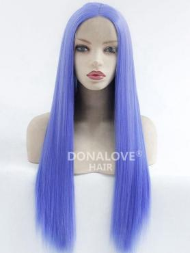 BLUE LONG STRAIGHT SYNTHETIC LACE FRONT WIG SNY222