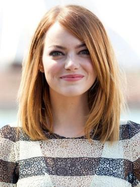 Light Reddish Blonde Long Bob Lace Front Wig HH030