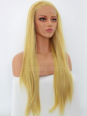 BLONDE LONG STRAIGHT SYNTHETIC LACE FRONT WIG SNY245