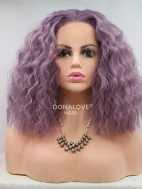 LAVENDER FLUFFY CURLY SYNTHETIC LACE FRONT WIG SNY218