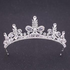 Silver Bridal Crown AC110