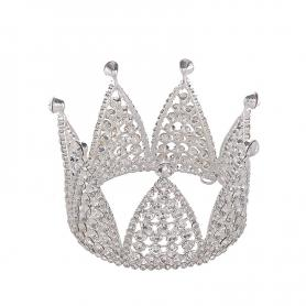 Silver Bridal Crown AC118