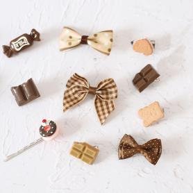 10 PCS CHOCOLATE SWEET LOLITA HAIR CLIPS LH039