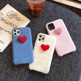 FURRY HEART SHOCKPROOF PROTECTIVE DESIGNER IPHONE CASE PC027