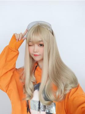 BLONDE WAVY SYNTHETIC WEFTED CAP WIG LG101
