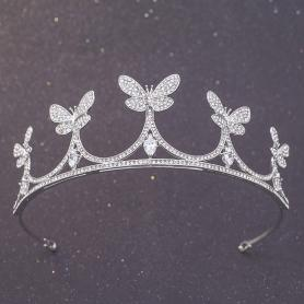 Silver Bridal Crown AC111