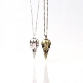 PUNK CROW HEAD NECKLACE A021