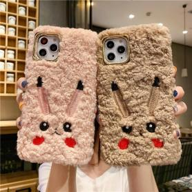 FURRY PIKACHU SHOCKPROOF PROTECTIVE DESIGNER IPHONE CASE PC058