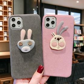 FURRY RABBIT SHOCKPROOF PROTECTIVE DESIGNER IPHONE CASE PC045