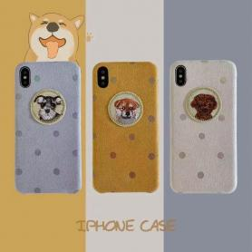 FURRY DOG SHOCKPROOF PROTECTIVE DESIGNER IPHONE CASE PC047